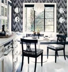 Phòng ăn sang trọng cuốn hút với sự kết hợp của cặp đôi trắng – đen